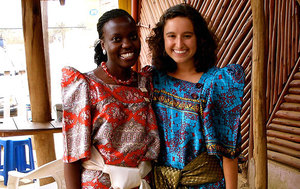 Rhodes Scholar Emmie Mediate (right) Interned At The Palliative Care Association Of Uganda